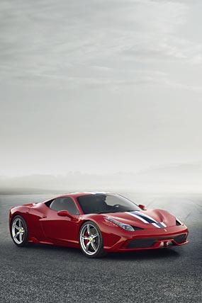 2014 Ferrari 458 Speciale phone wallpaper thumbnail.