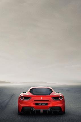 2016 Ferrari 488 GTB phone wallpaper thumbnail.