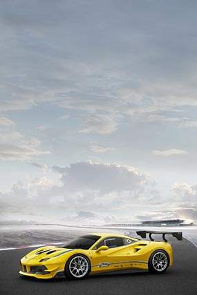 2017 Ferrari 488 Challenge phone wallpaper thumbnail.