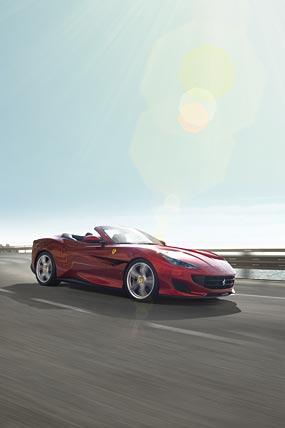 2018 Ferrari Portofino phone wallpaper thumbnail.