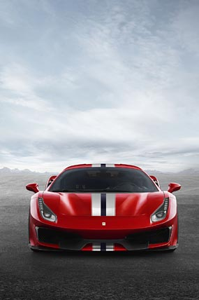 2019 Ferrari 488 Pista phone wallpaper thumbnail.