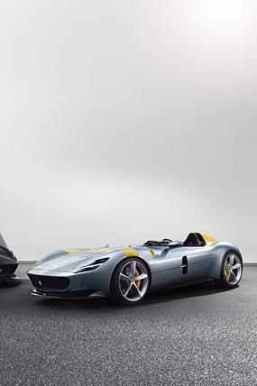 2019 Ferrari Monza SP1 phone wallpaper thumbnail.