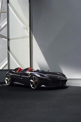 2019 Ferrari Monza SP2 phone wallpaper thumbnail.