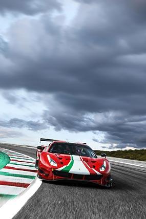 2020 Ferrari 488 GT3 Evo phone wallpaper thumbnail.