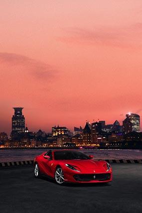 2020 Ferrari 812 GTS phone wallpaper thumbnail.