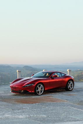 2020 Ferrari Roma phone wallpaper thumbnail.