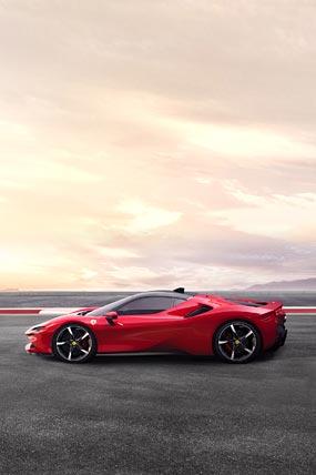 2020 Ferrari SF90 Stradale phone wallpaper thumbnail.