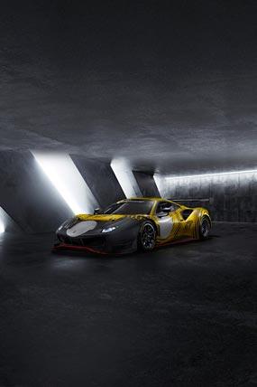 2021 Ferrari 488 GT Modificata phone wallpaper thumbnail.