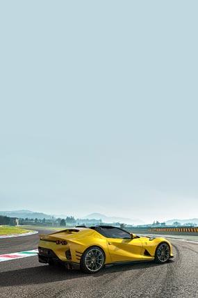 2021 Ferrari 812 Competizione A phone wallpaper thumbnail.