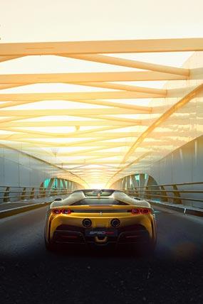 2021 Ferrari SF90 Spider phone wallpaper thumbnail.