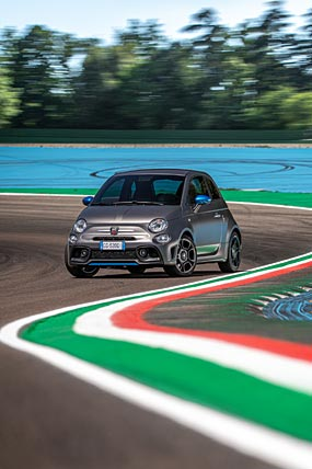 2022 Fiat F595 Abarth phone wallpaper thumbnail.