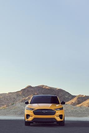 2021 Ford Mustang Mach-E GT phone wallpaper thumbnail.
