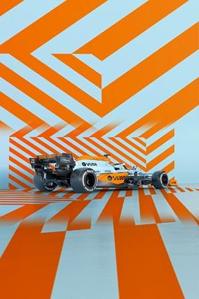 2021 McLaren MCL35M phone wallpaper thumbnail.