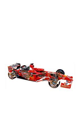 2004 Ferrari F2004 phone wallpaper thumbnail.