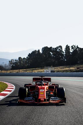 2019 Ferrari SF90 phone wallpaper thumbnail.
