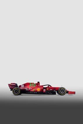 2021 Ferrari SF21 phone wallpaper thumbnail.