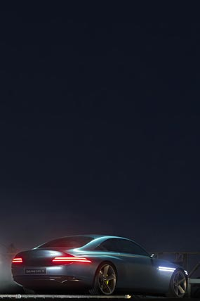 2021 Genesis X Concept phone wallpaper thumbnail.