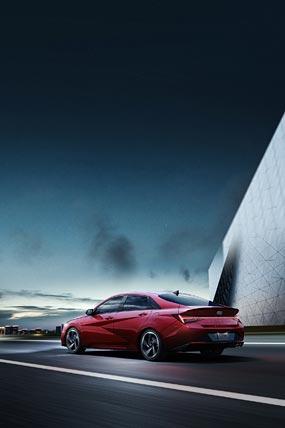 2021 Hyundai Elantra N Line phone wallpaper thumbnail.