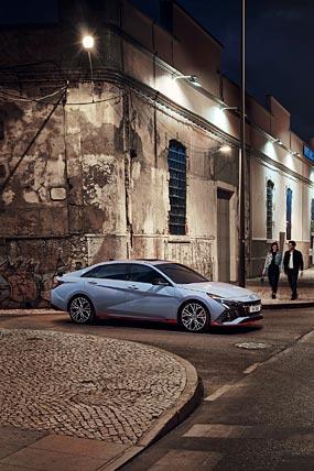 2022 Hyundai Elantra N phone wallpaper thumbnail.