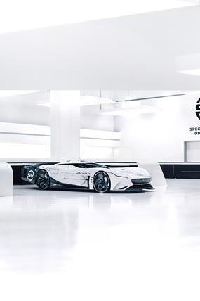 2020 Jaguar Vision Gran Turismo SV Concept phone wallpaper thumbnail.