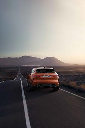 2021 Jaguar F-Pace SVR phone wallpaper thumbnail.
