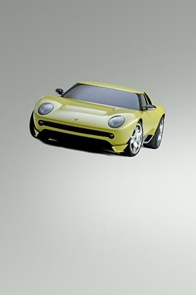 2006 Lamborghini Miura Concept phone wallpaper thumbnail.