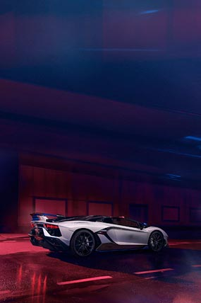 2020 Lamborghini Aventador SVJ Roadster Xago Edition phone wallpaper thumbnail.