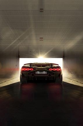 2020 Lamborghini Sian phone wallpaper thumbnail.