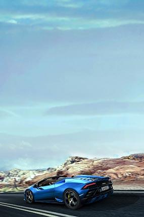2021 Lamborghini Huracan Evo RWD Spyder phone wallpaper thumbnail.