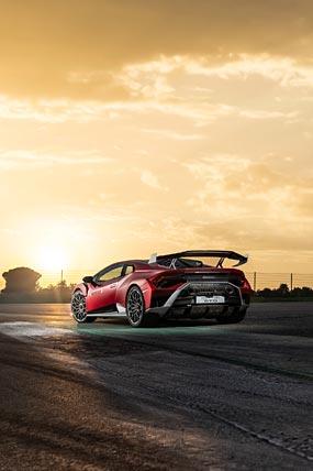 2021 Lamborghini Huracan STO phone wallpaper thumbnail.