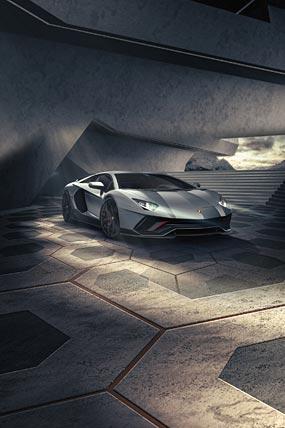2022 Lamborghini Aventador LP780-4 Ultimae phone wallpaper thumbnail.
