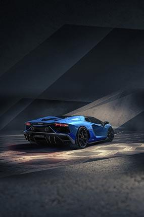 2022 Lamborghini Aventador LP780-4 Ultimae Roadster phone wallpaper thumbnail.