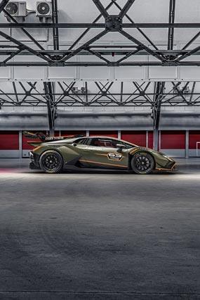 2022 Lamborghini Huracan Super Trofeo EVO2 phone wallpaper thumbnail.