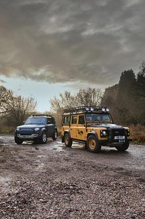 2021 Land Rover Defender Works V8 Trophy phone wallpaper thumbnail.