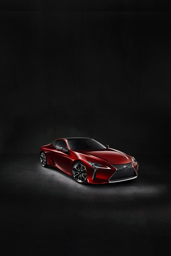 2017 Lexus LC 500 phone wallpaper thumbnail.