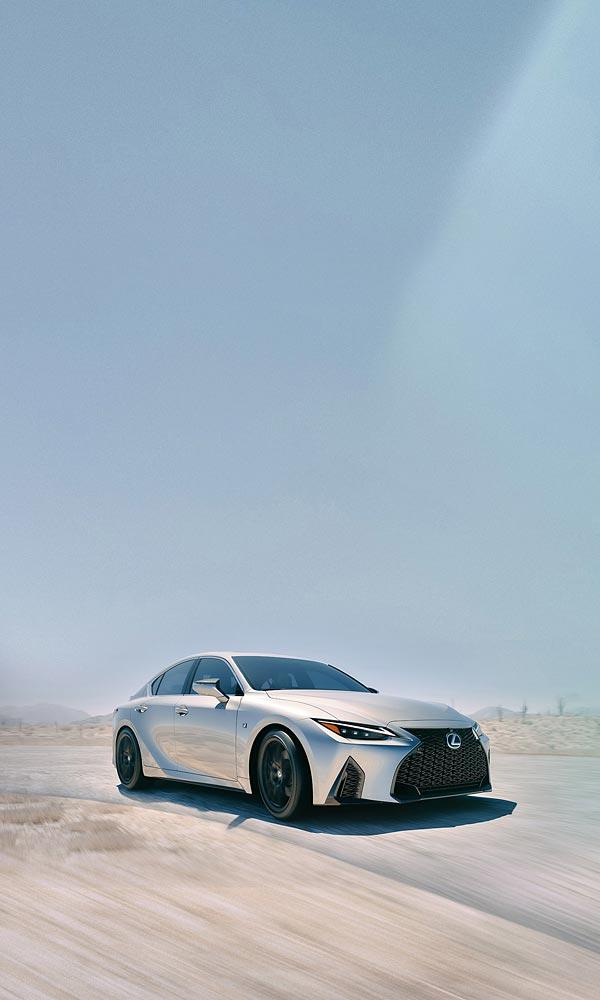 2021 Lexus IS phone wallpaper thumbnail.