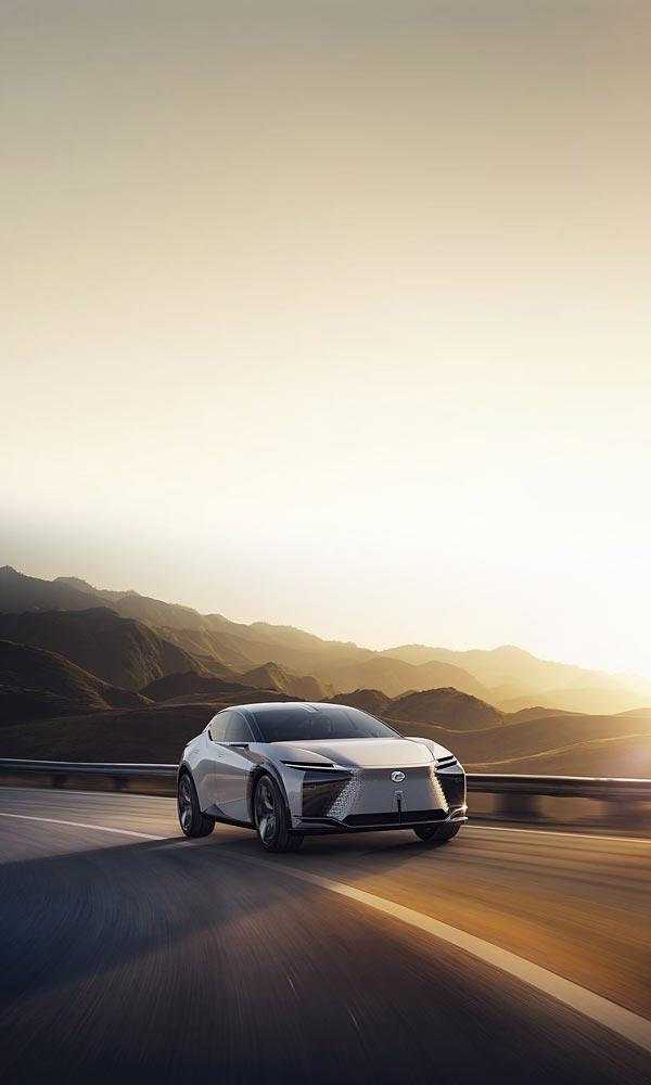 2021 Lexus LF-Z Electrified Concept phone wallpaper thumbnail.