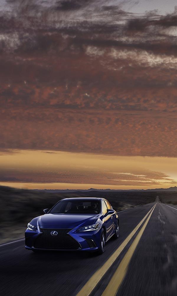 2022 Lexus ES F Sport phone wallpaper thumbnail.