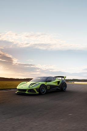 2021 Lotus Emira GT4 Concept phone wallpaper thumbnail.