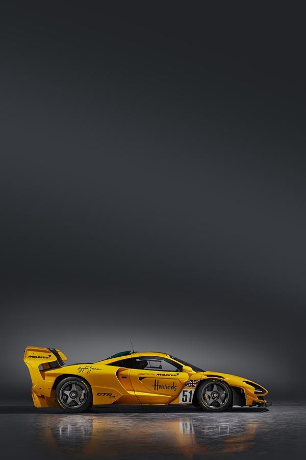 2020 McLaren Senna GTR LM phone wallpaper thumbnail.