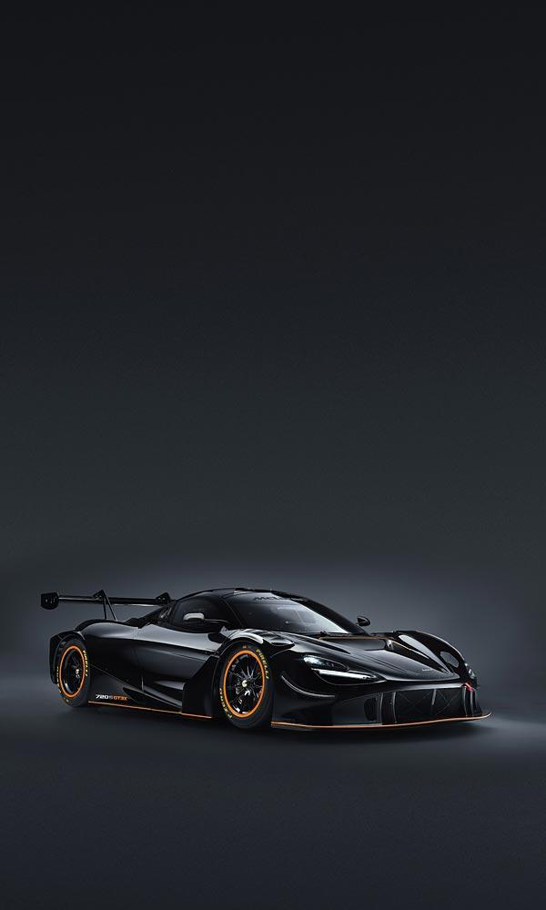 2021 McLaren 720S GT3X phone wallpaper thumbnail.