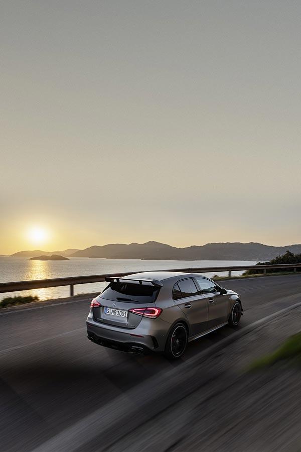 2020 Mercedes-AMG A45 phone wallpaper thumbnail.