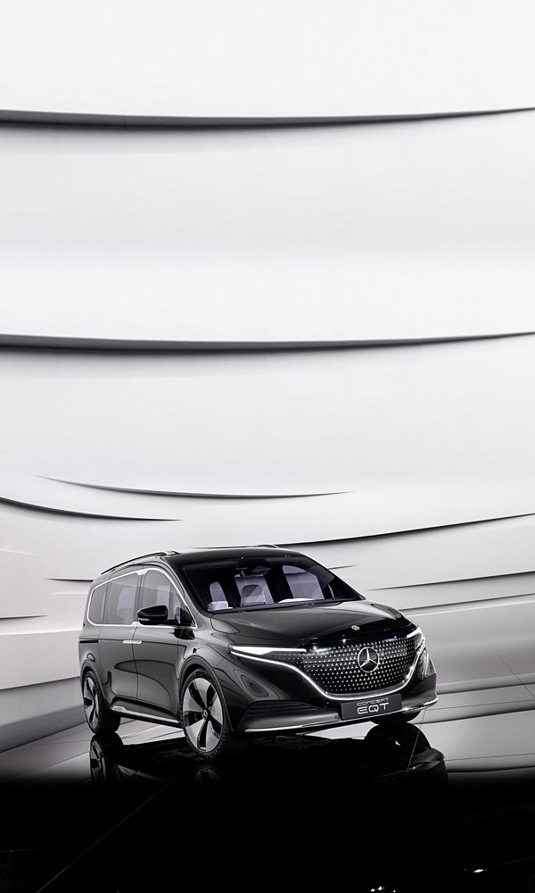 2021 Mercedes-Benz EQT Concept phone wallpaper thumbnail.