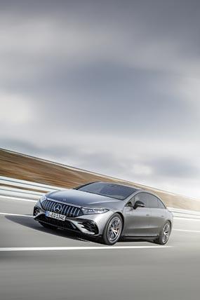 2022 Mercedes-AMG EQS53 phone wallpaper thumbnail.