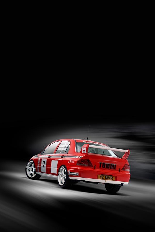 2001 Mitsubishi Evolution VII WRC phone wallpaper thumbnail.