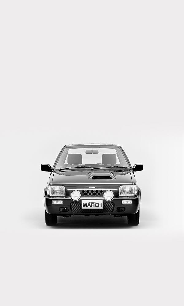 1989 Nissan March Super Turbo phone wallpaper thumbnail.