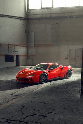 2021 Novitec Ferrari F8 Tributo N-Largo phone wallpaper thumbnail.