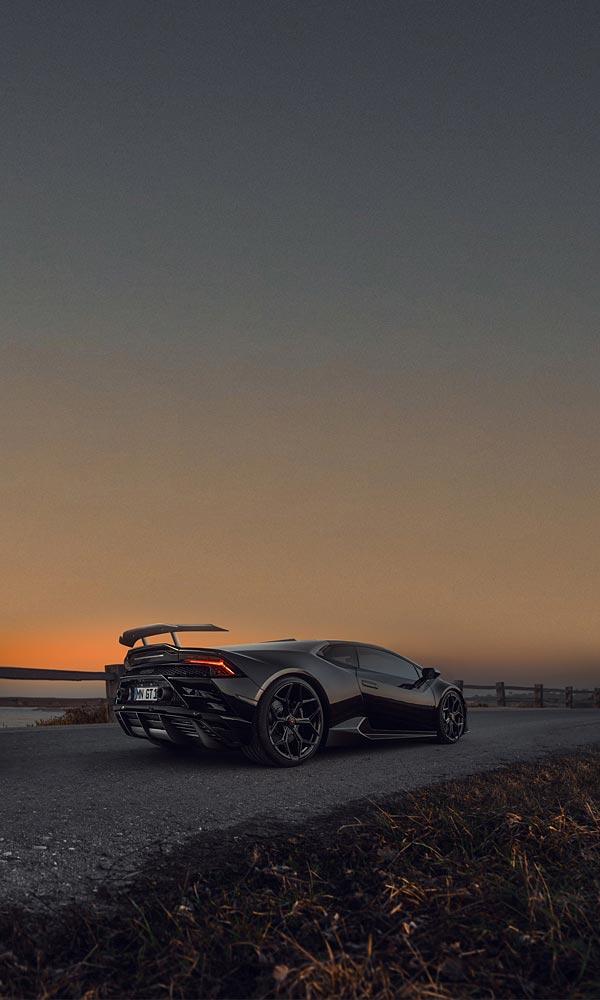 2021 Novitec Lamborghini Huracan EVO RWD phone wallpaper thumbnail.
