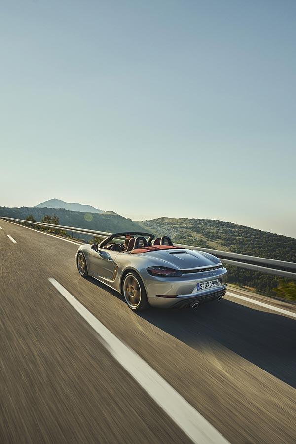 2021 Porsche Boxster 25 Years Edition phone wallpaper thumbnail.