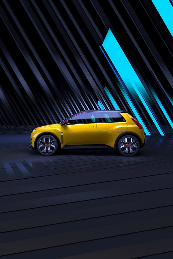 2021 Renault 5 Concept phone wallpaper thumbnail.